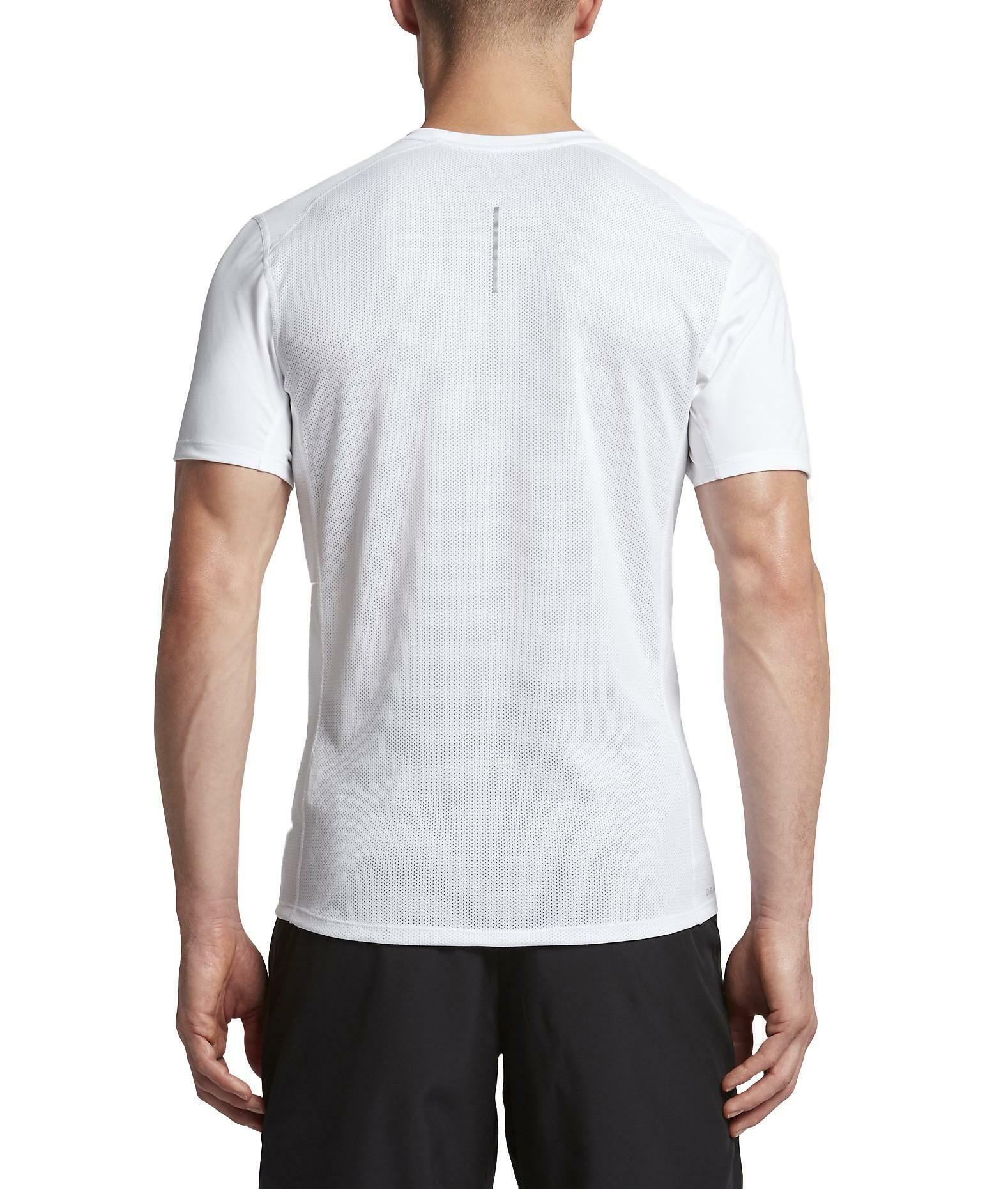 nike nike dry miler t-shirt uomo bianca
