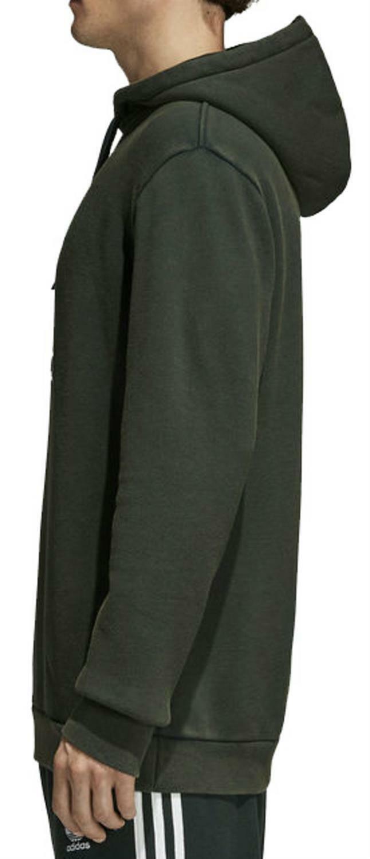 adidas adidas originals trefoil felpa verde cotone felpato uomo cw1242