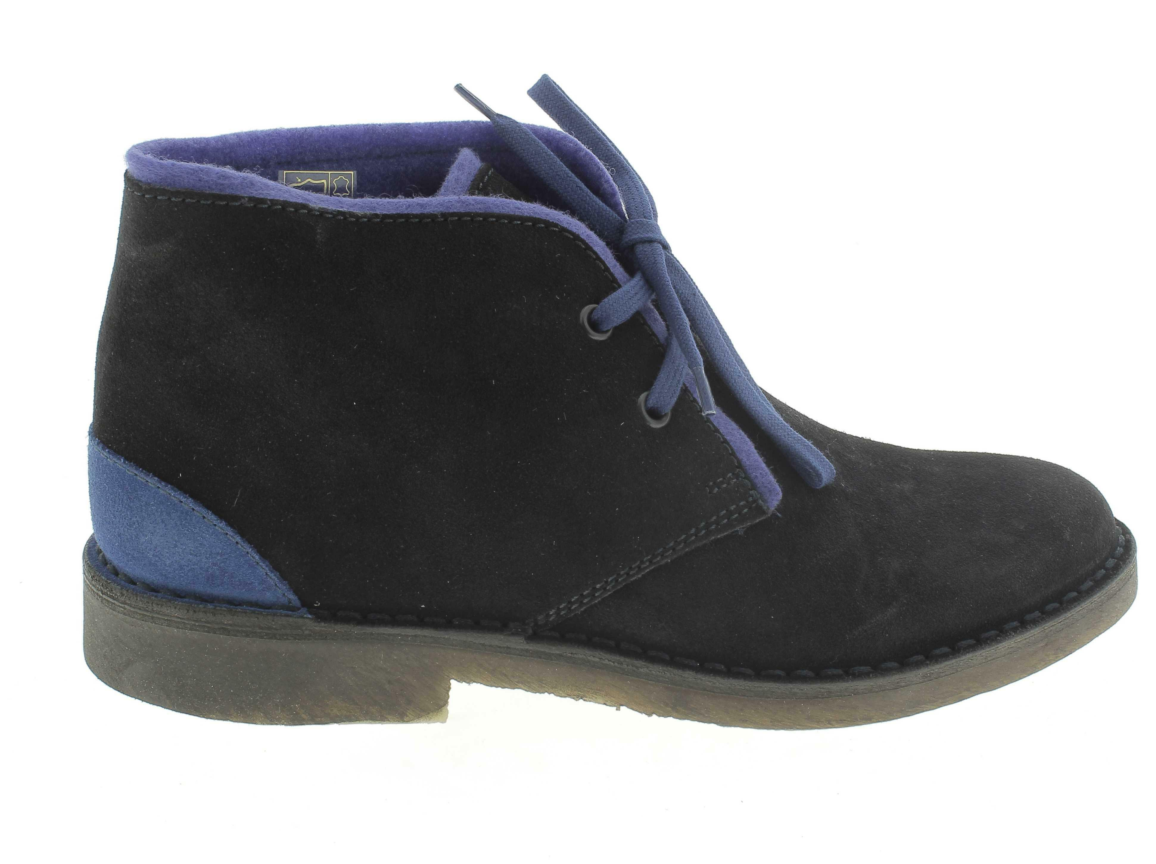 cafnoir scarponcini donna blu pelle tdt600