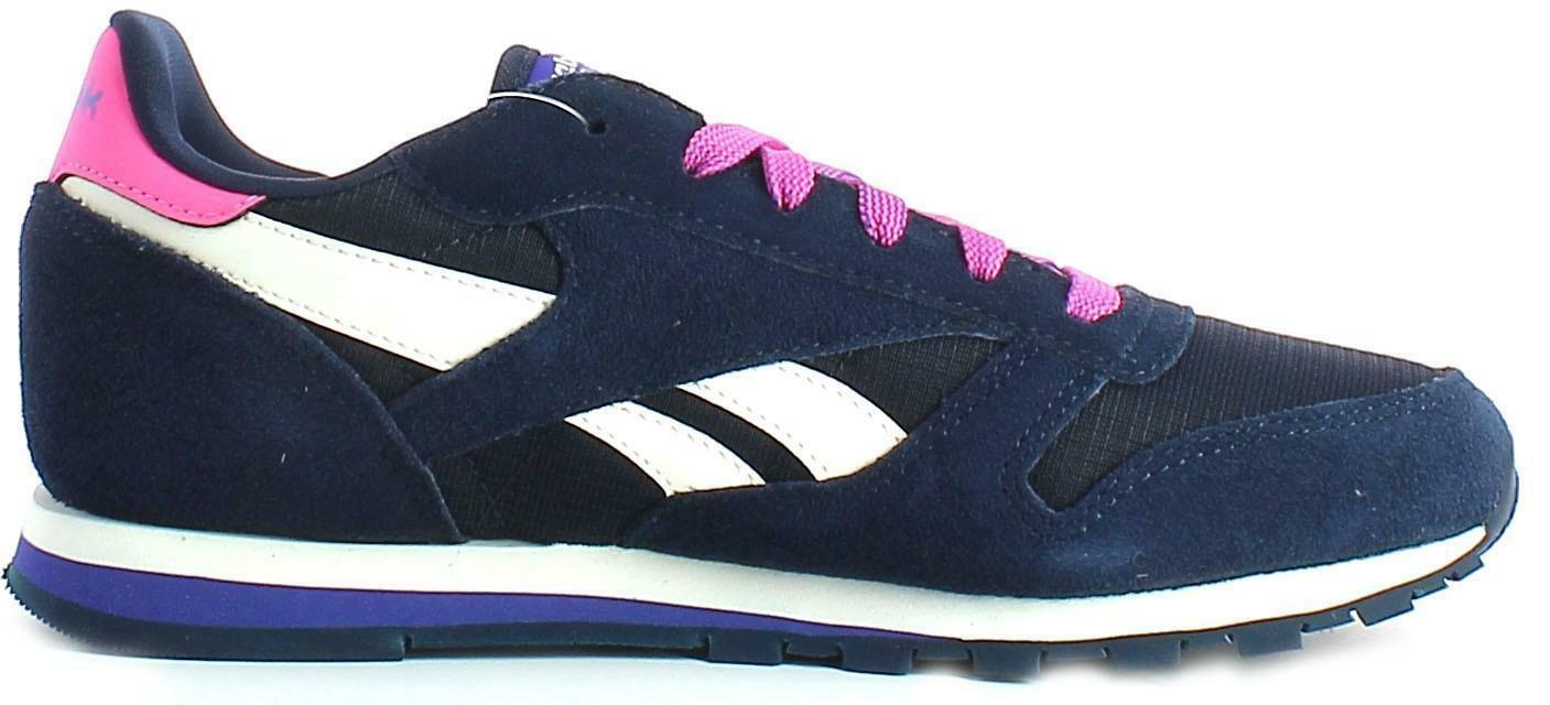 reebok reebok cl leather camp scarpe sportive blu