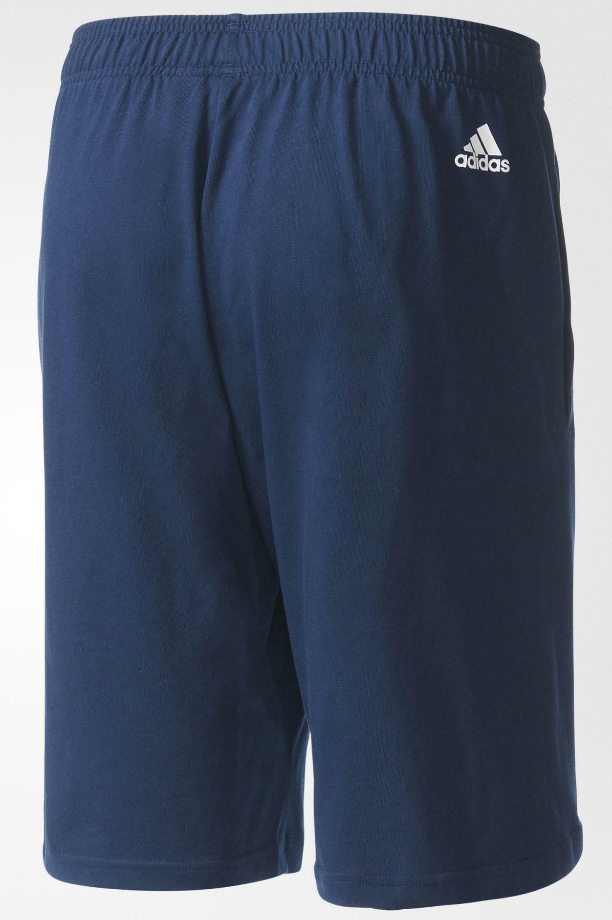 adidas adidas ess lin pantaloncini uomo blu bs5028