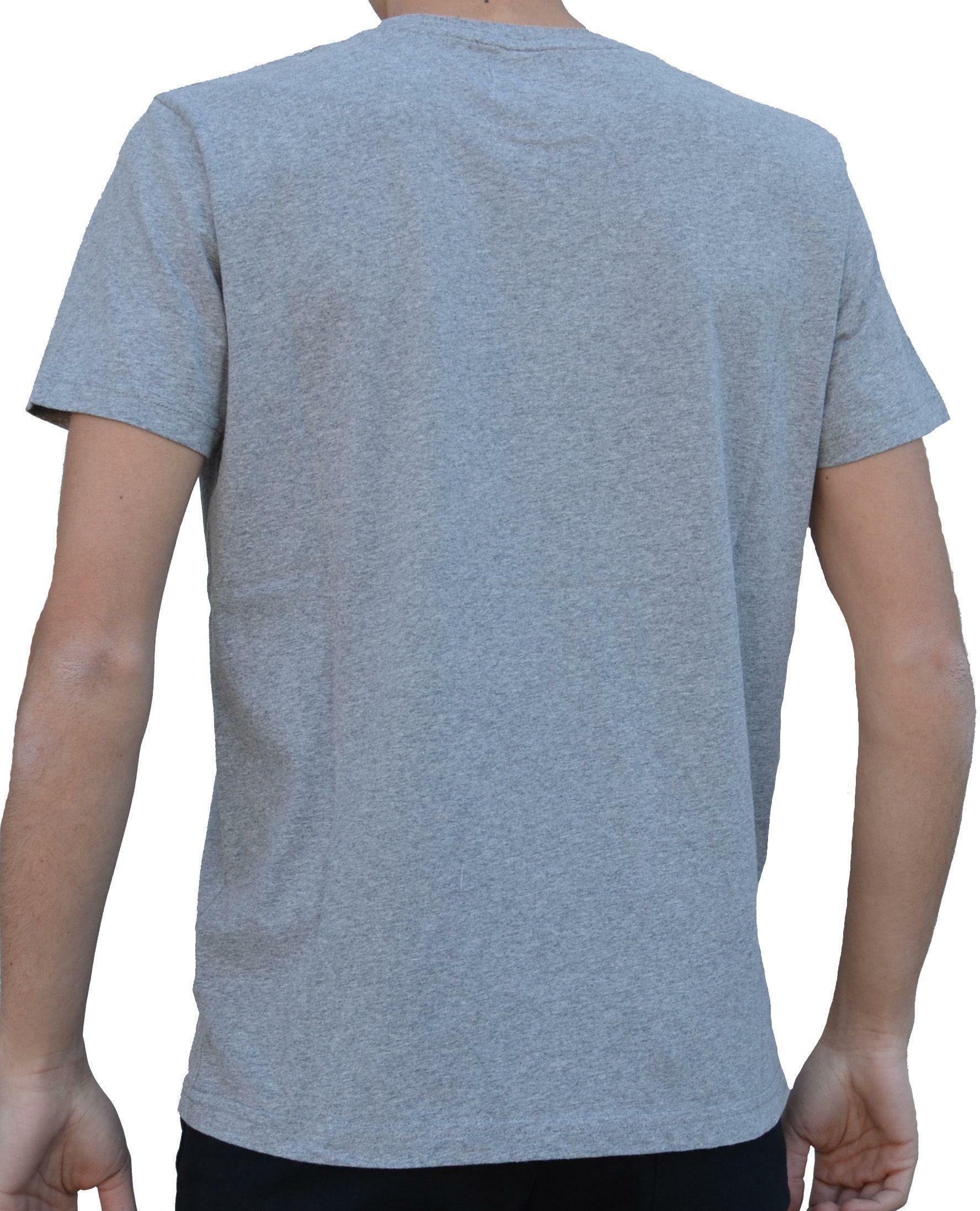 converse converse t-shirt logo uomo grigia