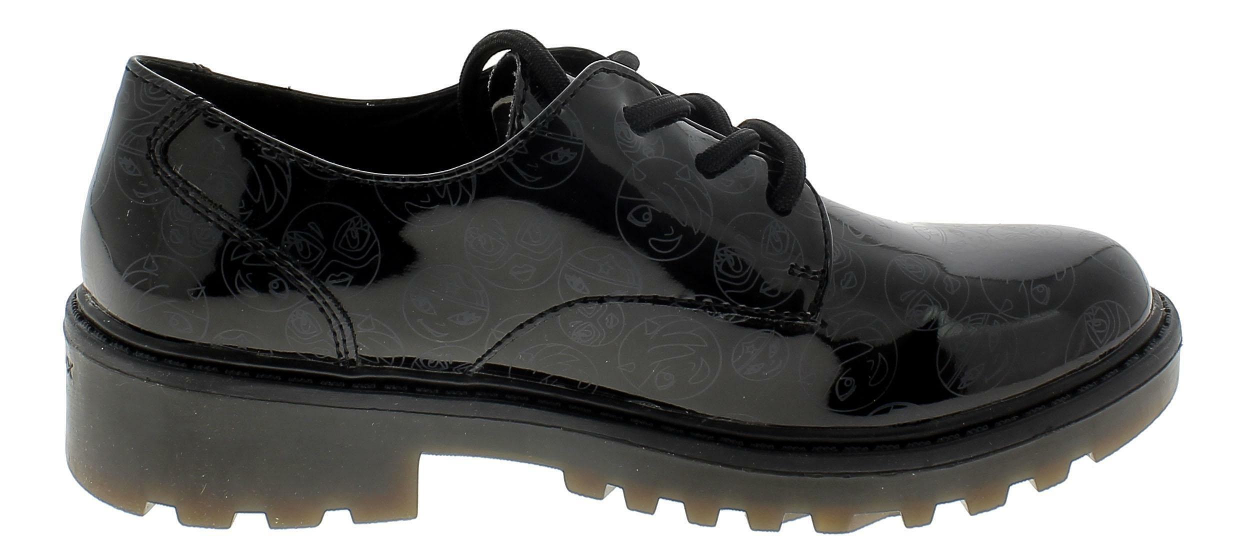 geox geox casey scarpe pelle fantasia nere