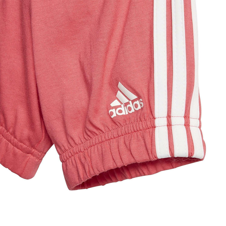 adidas adidas i su easy g set tuta bambina bianca rosa cf7413