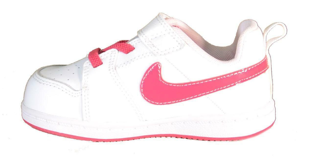 nike backbard 2 (tdv) scarpe bambina bianche pelle strappi 488305
