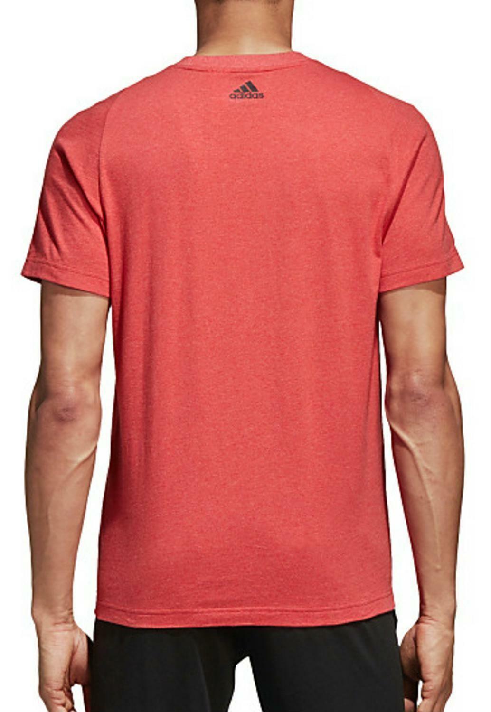 adidas adidas ess chestlogo t-shirt uomo rossa cd2839