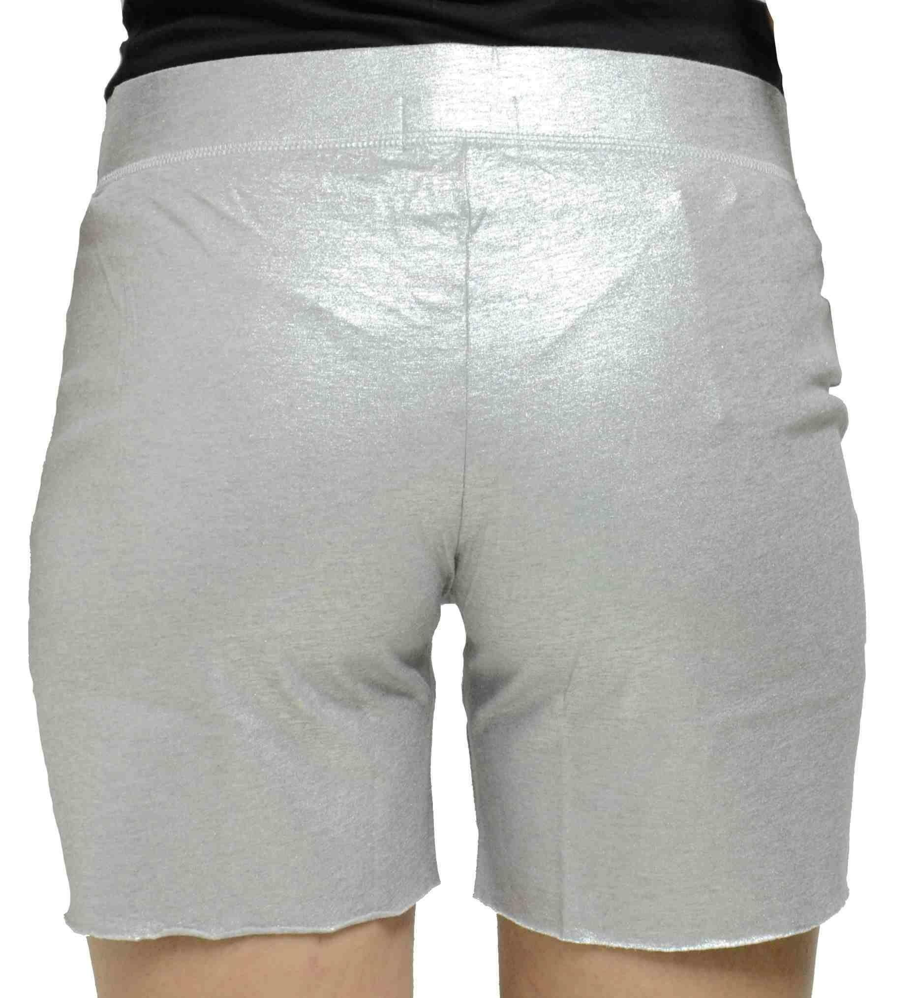 converse converse short raw cut pantaloncini donna grigio metallico
