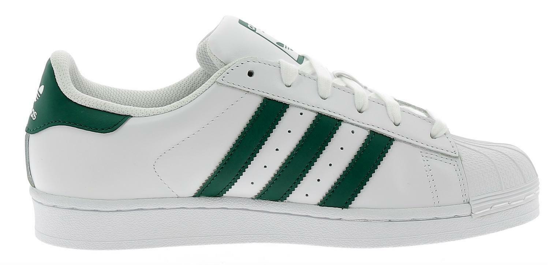 adidas adidas superstar scarpe sportive pelle bianche verdi