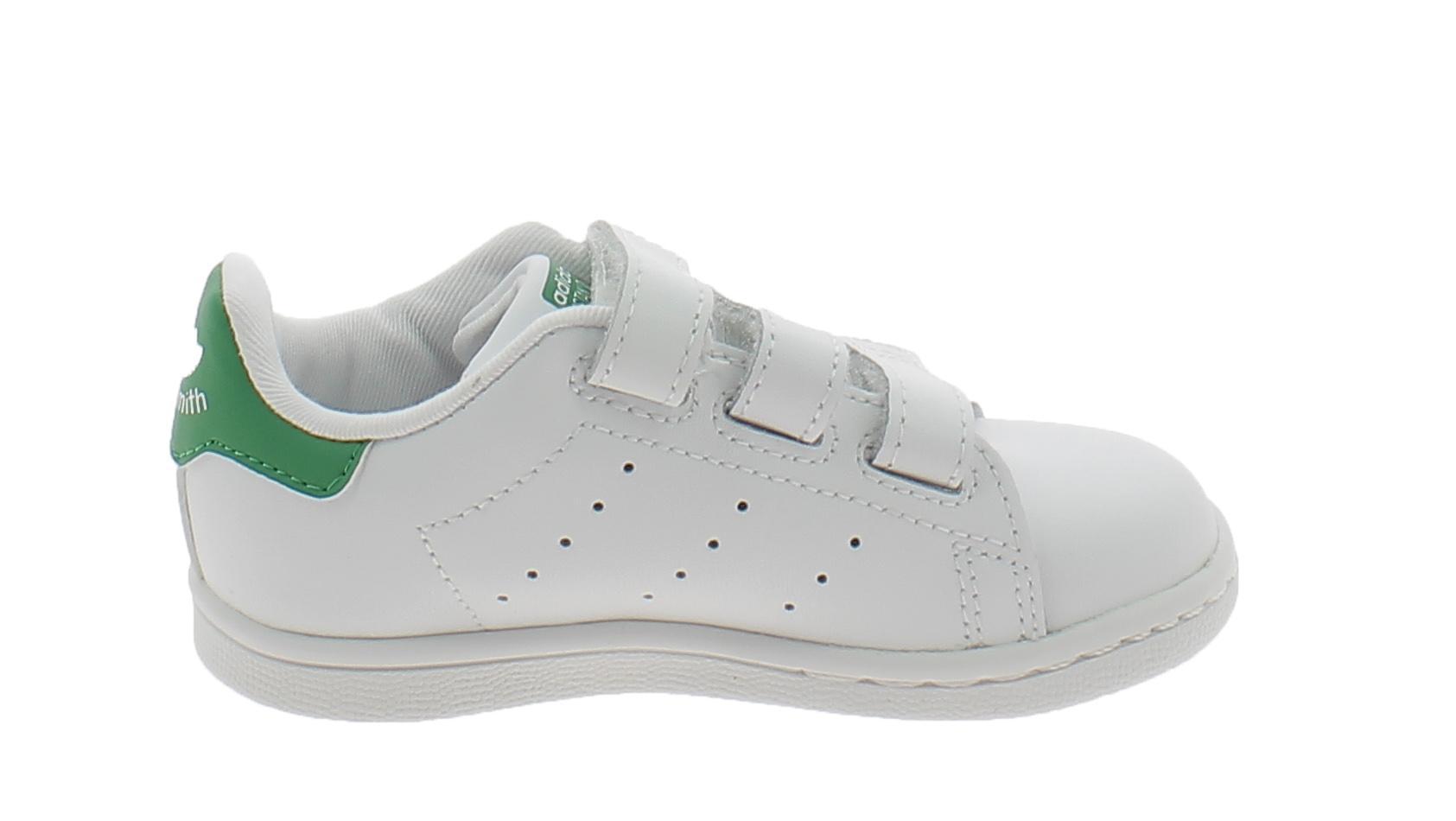 adidas adidas stan smith cf scarpe sportive strappi bianche verdi bz0520