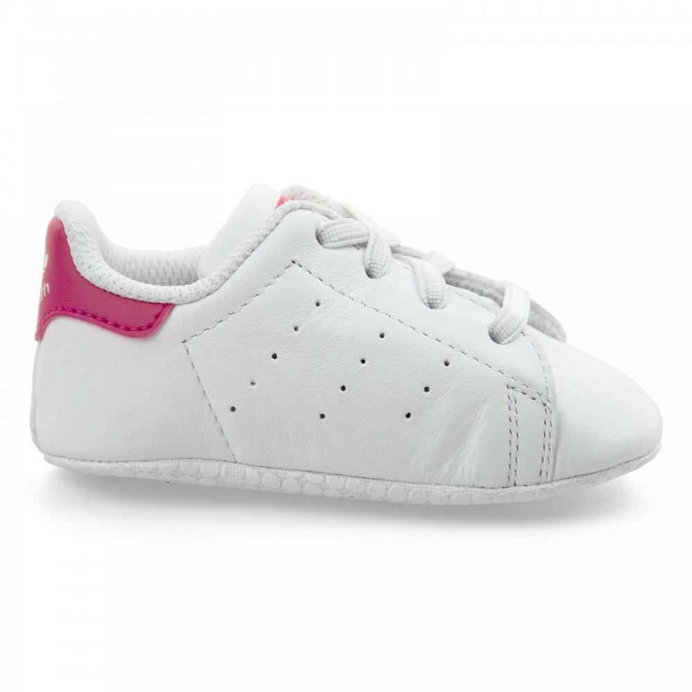 new york 0963f eea15 Adidas Stan Smith Crib Girls Sports Shoes Cradle S82618