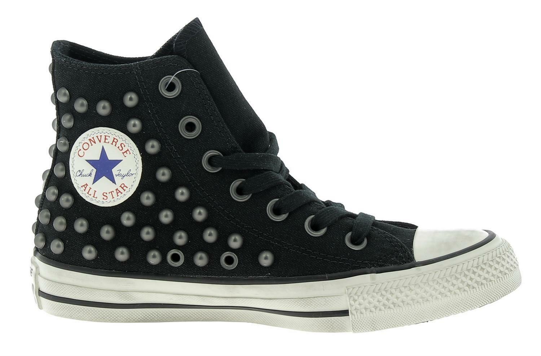 converse converse ctas distressed hi scarpe sportive borchie nere