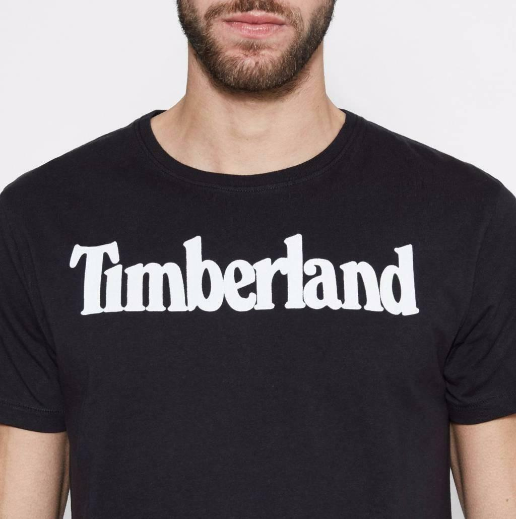 timberland timberland brand t-shirt uomo nera regular fit