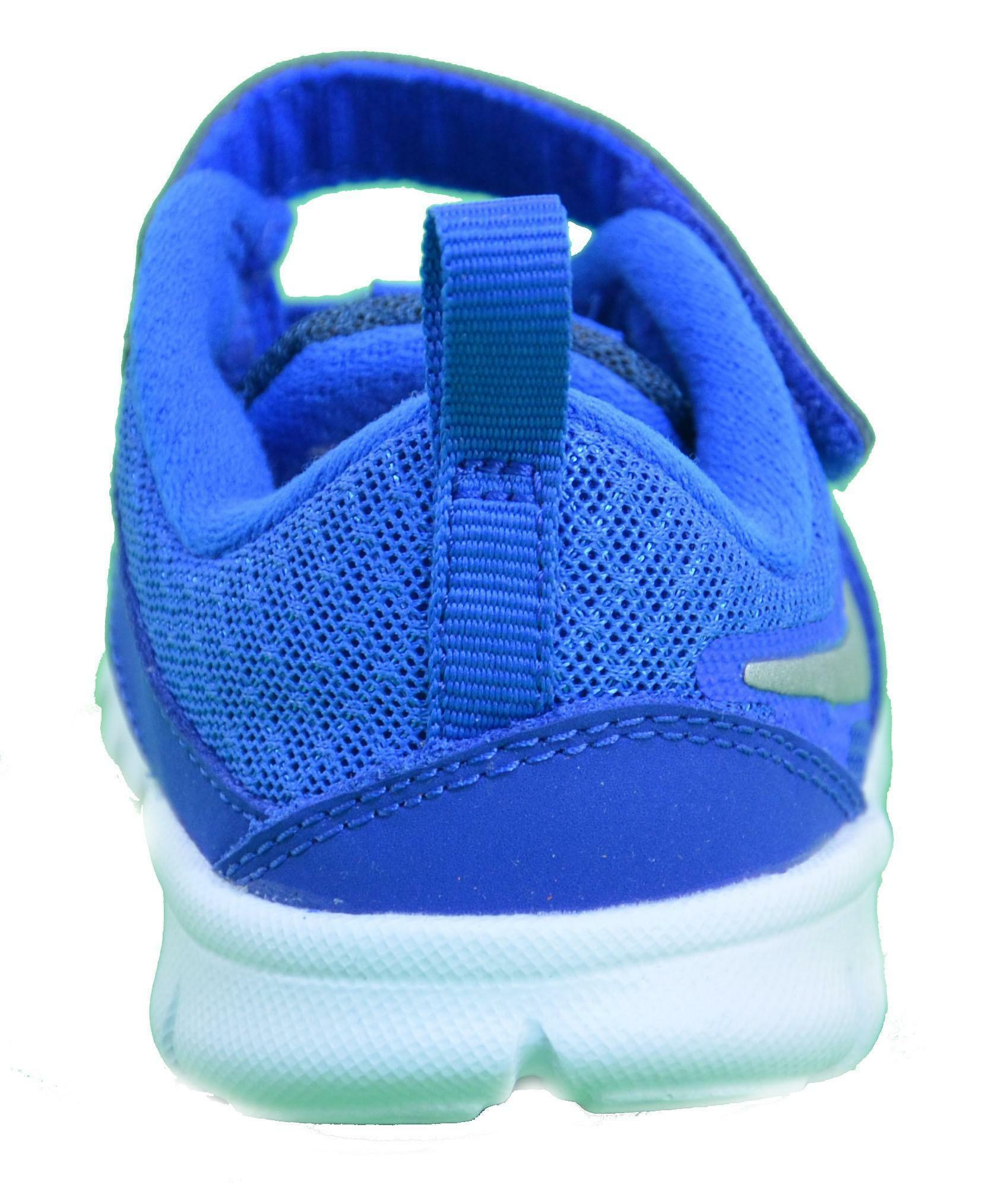 nike nike flex experience 3 (tdv) scarpe bambino blu pelle tela 653703