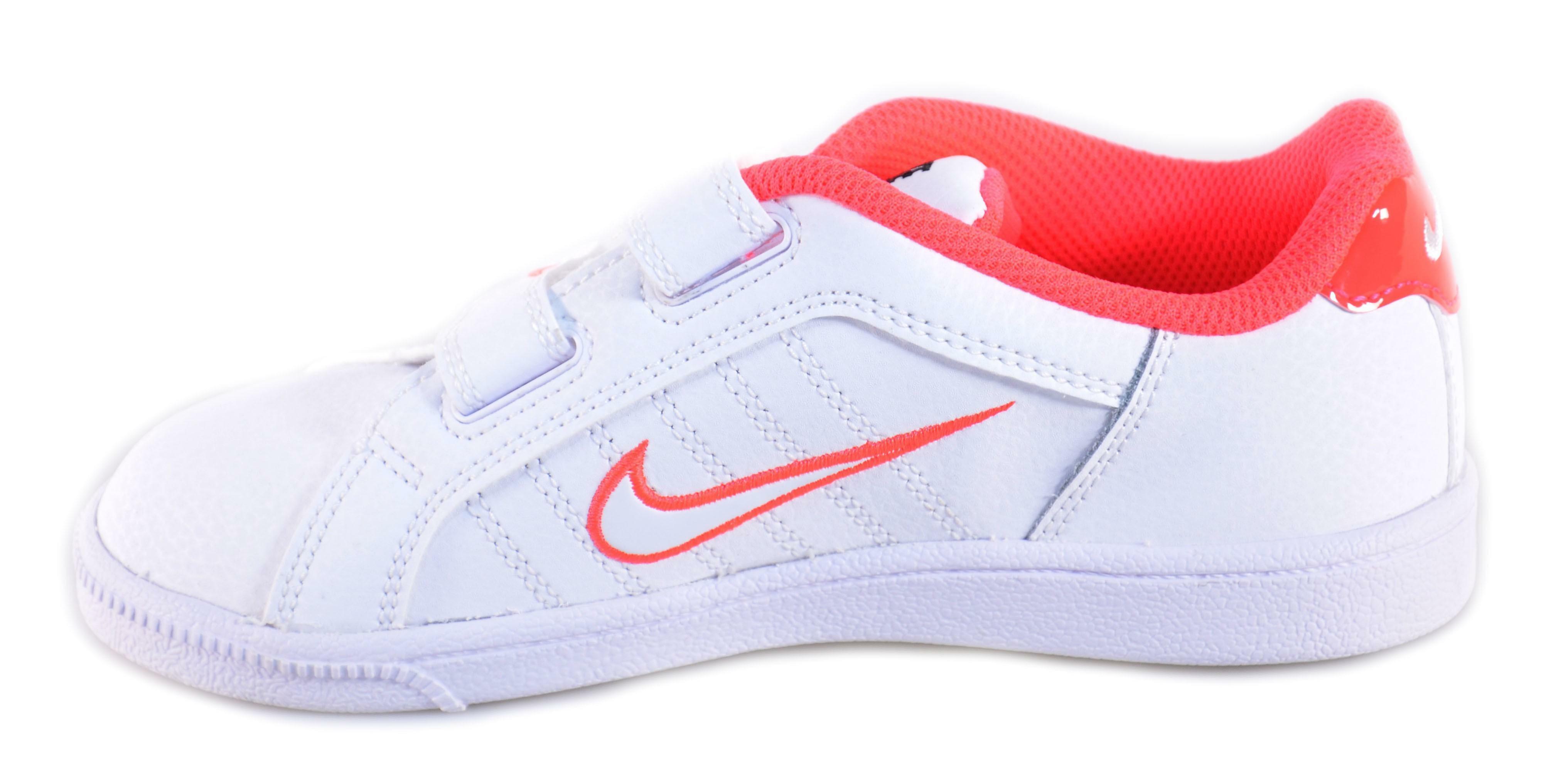 nike nike court tradition 2 plus (tdv) scarpe bambina bianche velcro 408079