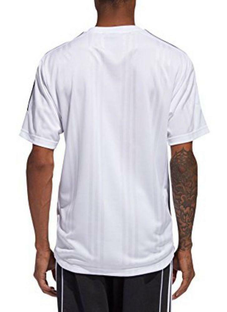 adidas adidas jacquard 3 stripes t-shirt uomo bianca