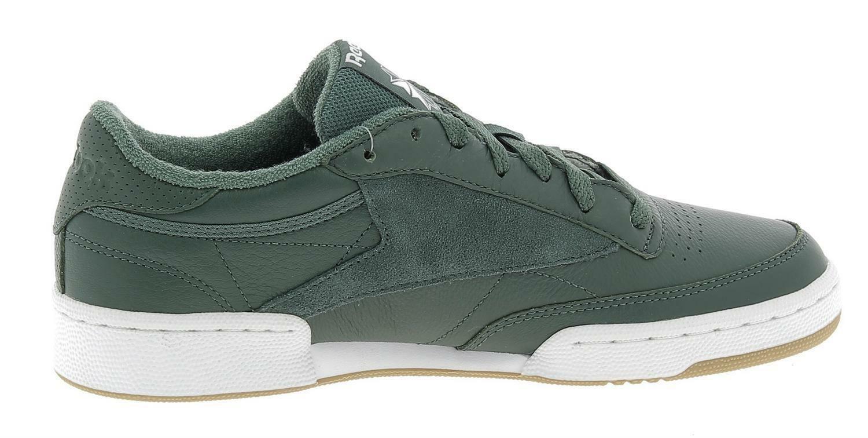 reebok reebok classic club 85 essential scarpe sportive uomo verdi cm8793