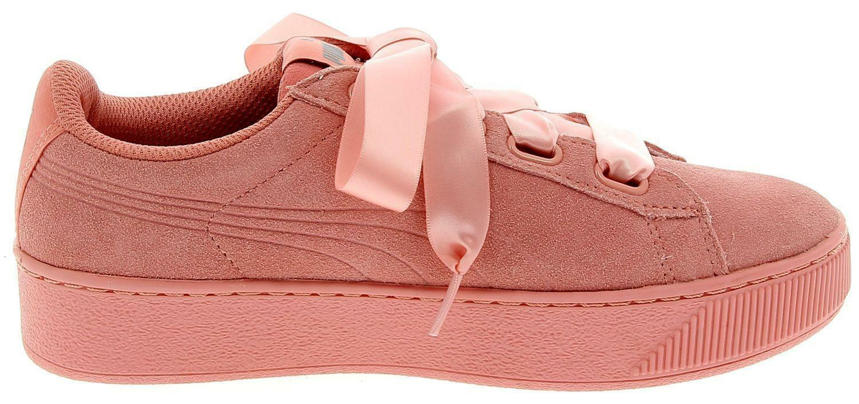 2eb79b21d386 Puma Vikky Platform Ribbon S Women s Sports Shoes Pink 36641803