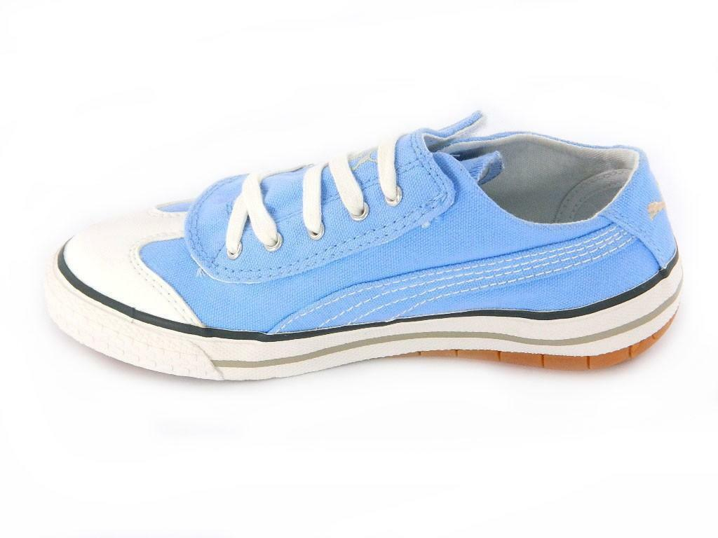 puma scarpe bambino/bambina 917 lo v celeste tela