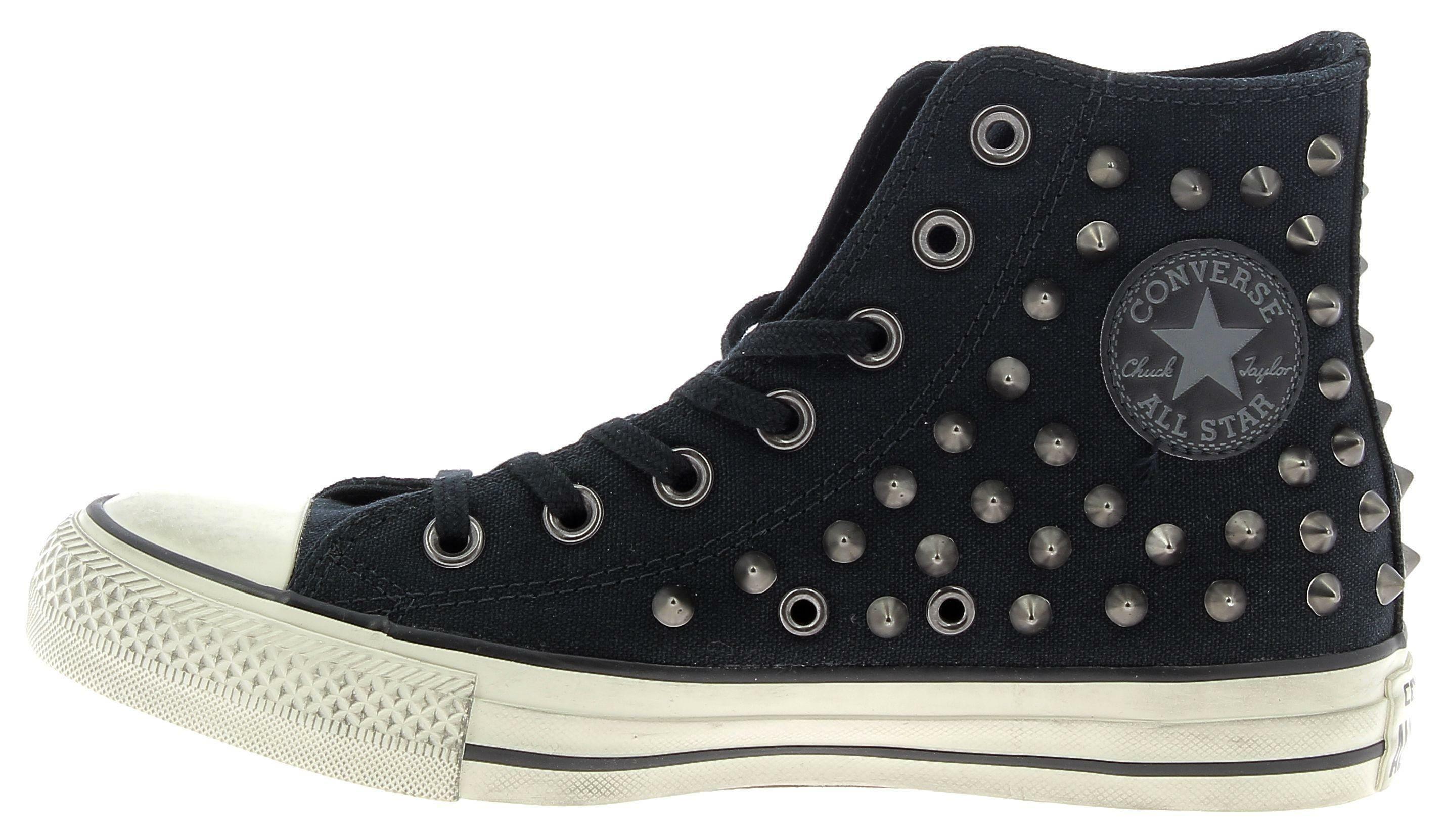 converse converse ctas distressed hl scarpe sportive nere borchie
