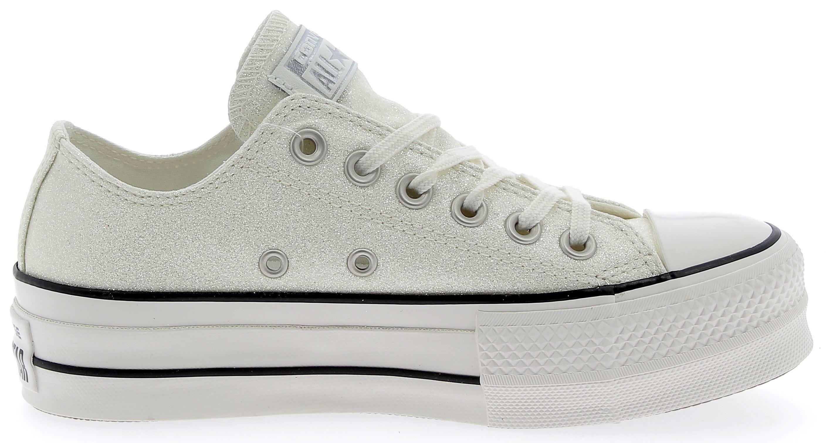 converse converse ctas ox clean lift scarpe sportive donna bianche