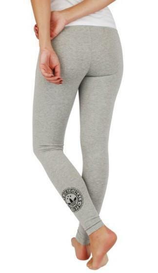 adidas adidas leggings donna grigi cotone elasticizzato aj7655