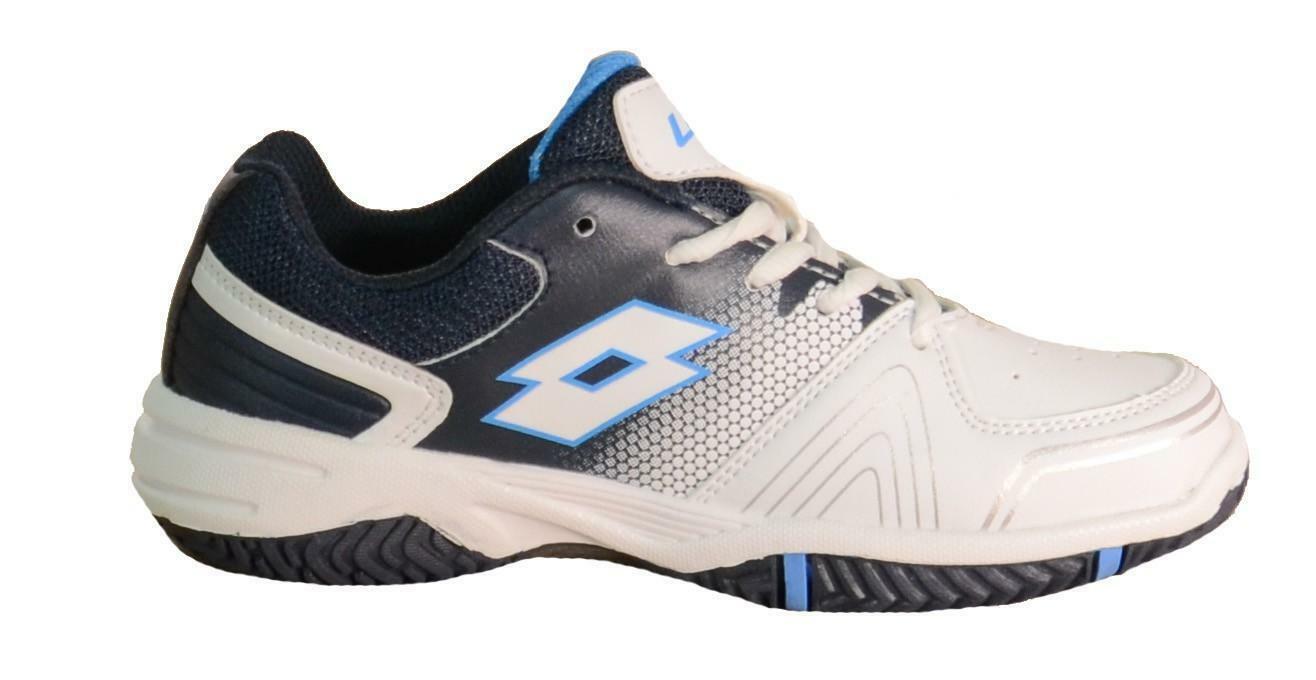 lotto lotto t-strike cl l scarpe sportive bambino bianche blu pelle s1518