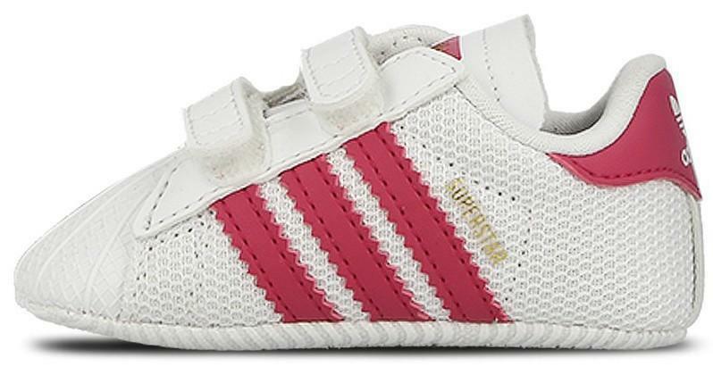 adidas adidas superstar crib scarpe sportive infant culla bianche fuxia