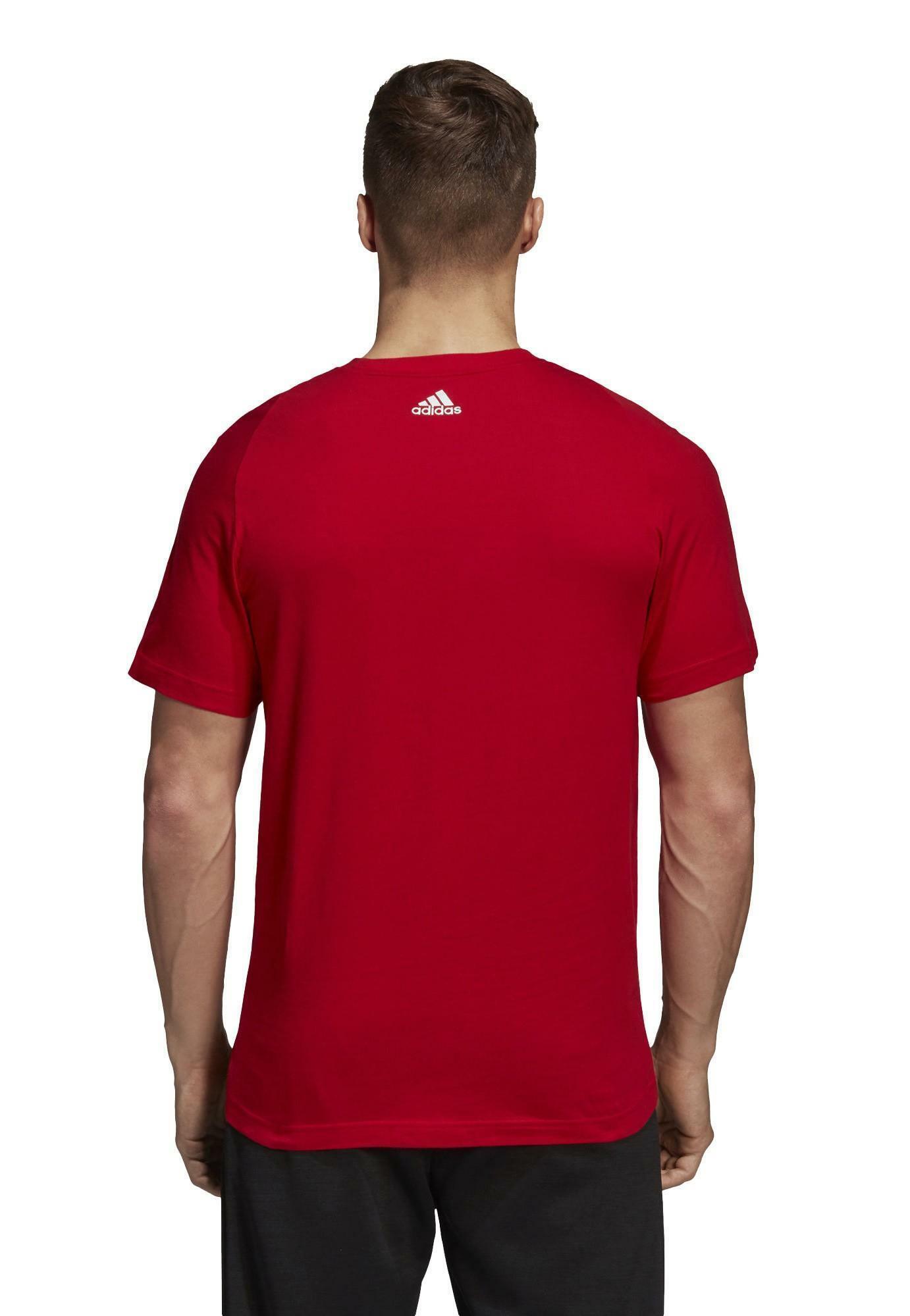 adidas adidas linear tee t-shirt uomo rossa cz7509