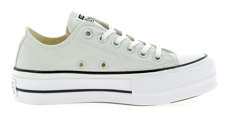 scarpe converse platform grigie