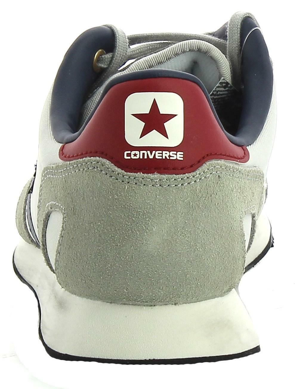 converse converse auckland racer distressed ox scarpe sportive uomo grigie