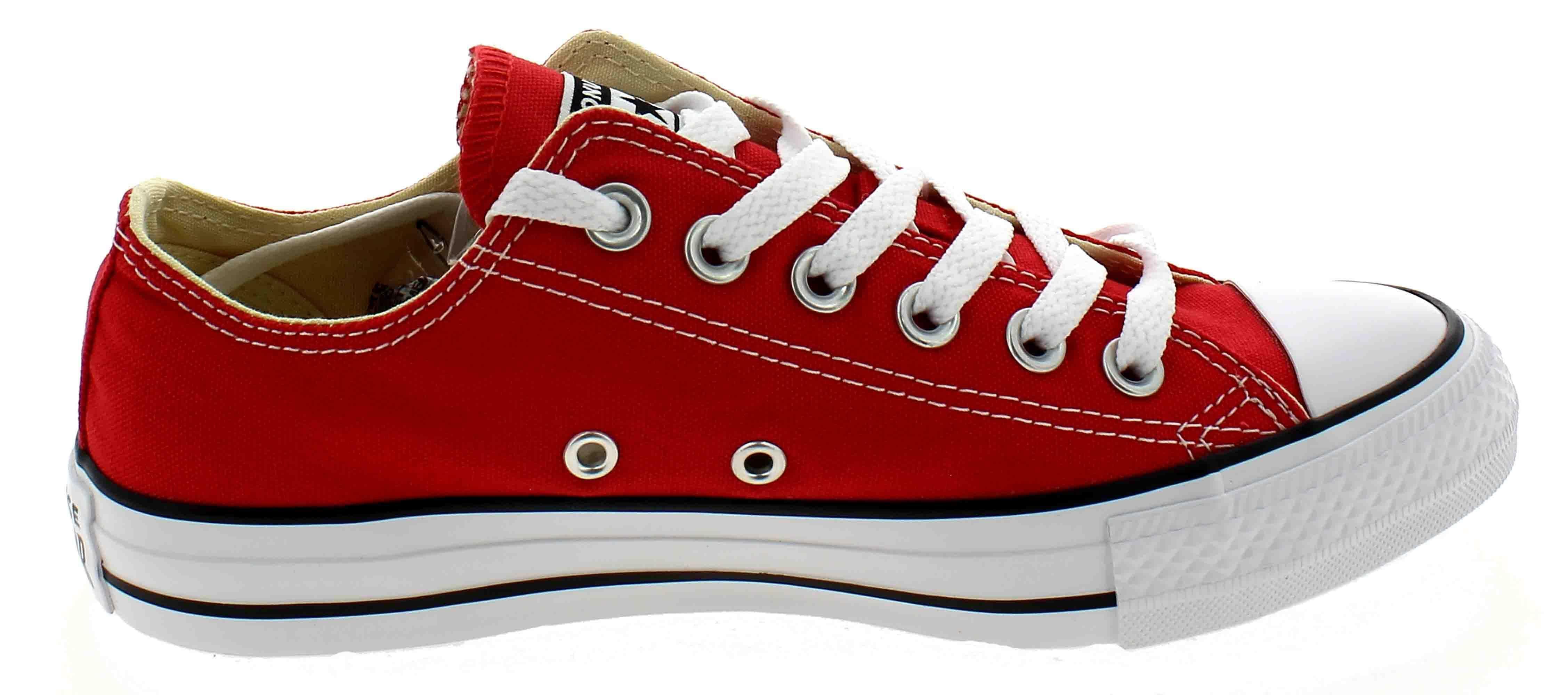 converse converse all star ox optical scarpe sportive basse rosse m9696