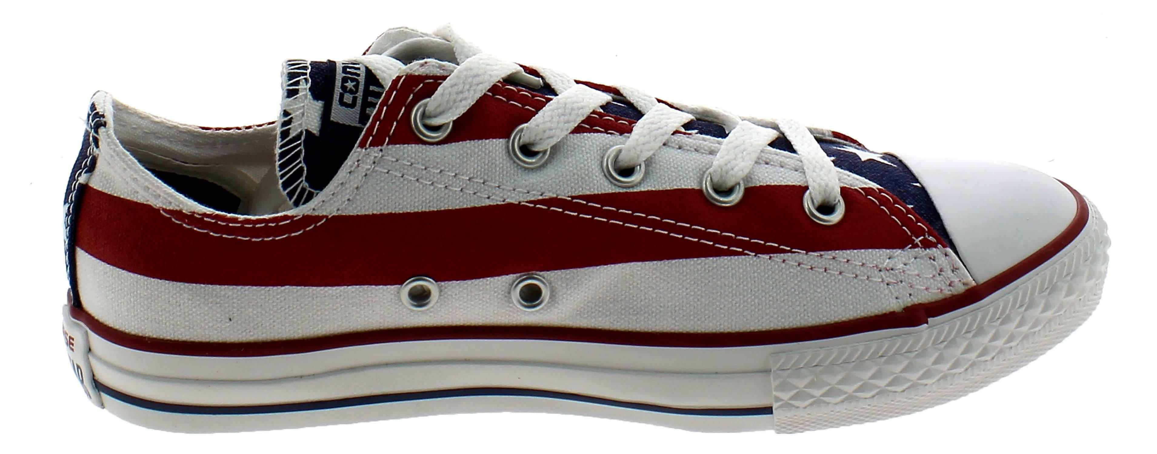 converse converse all star ct scarpe uomo donna bandiera america tela m3494