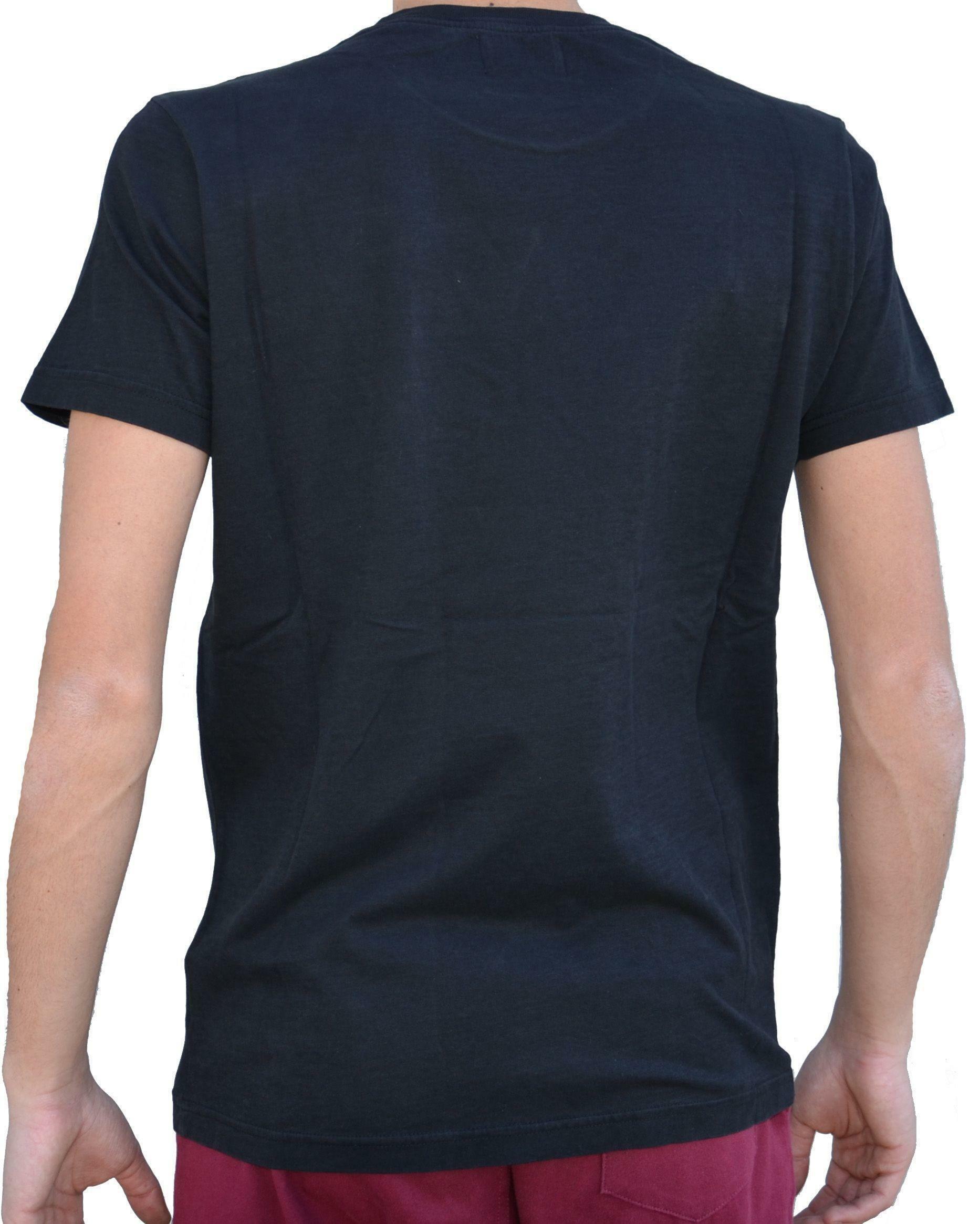 converse converse t-shirt logo uomo nera