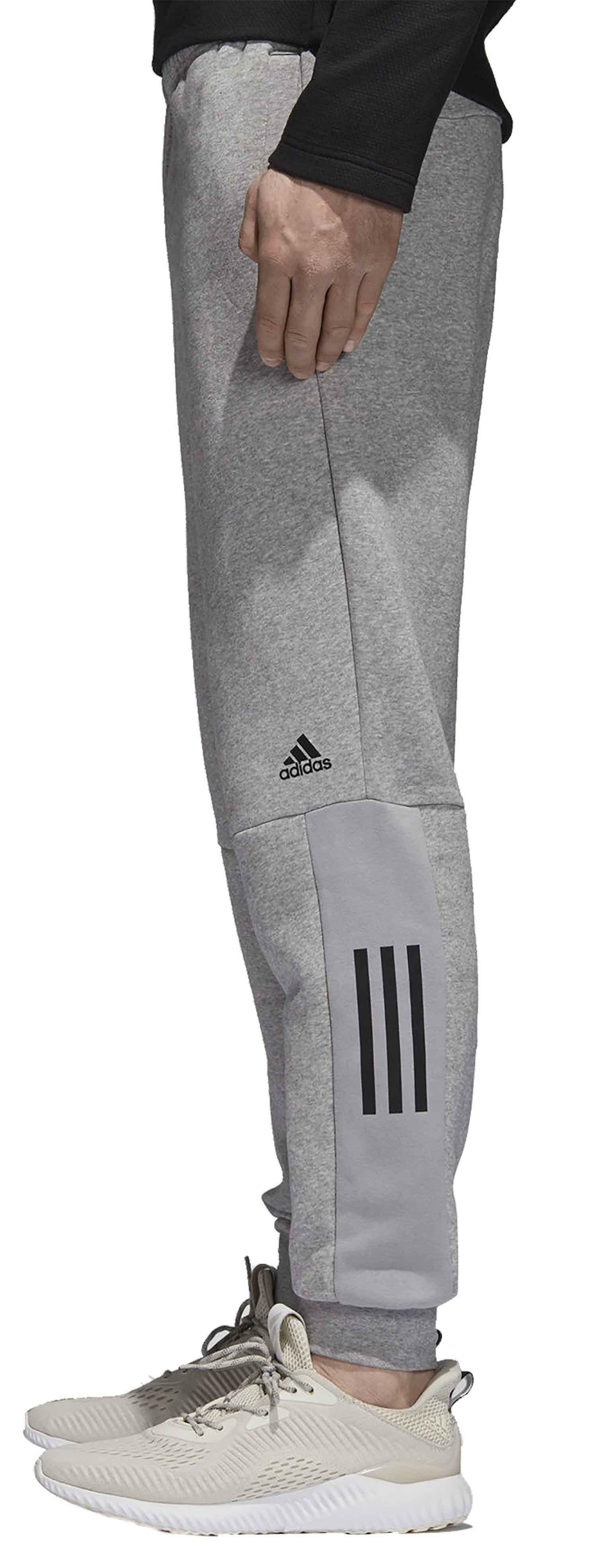 adidas originals adidas m sid lgo pantaloni tuta uomo grigi cotone felpato dm7275