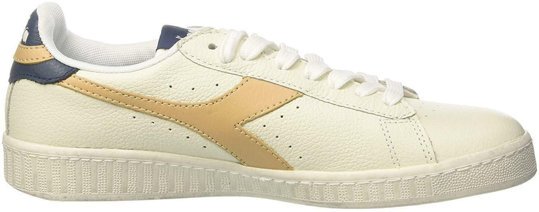 diadora diadora game l low waxed scarpe sportive uomo bianche oro 160821c6258