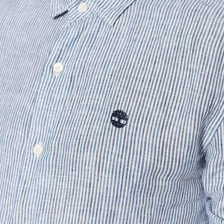 timberland timberland ls mill lin strpe sh camicia a righe uomo bianca a1kzeb68