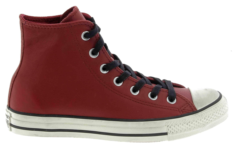converse converse ctas distressed scarpe sportive bordeaux pelle 162803c