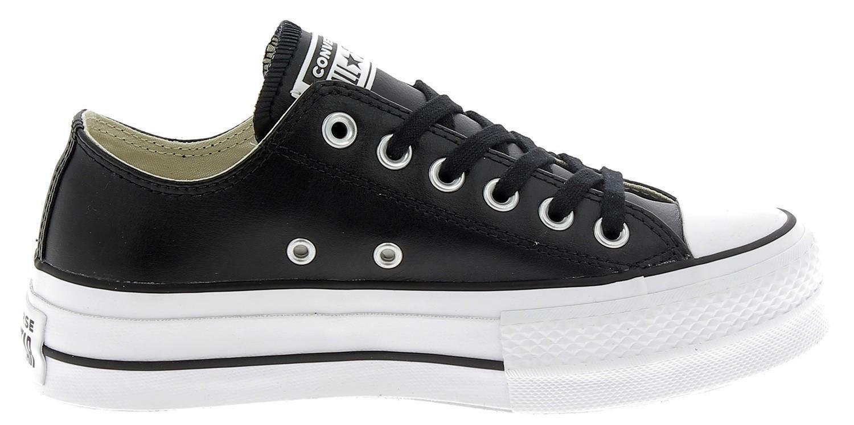 converse converse ctas lift platform scarpe sportive donna nere pelle 561681c