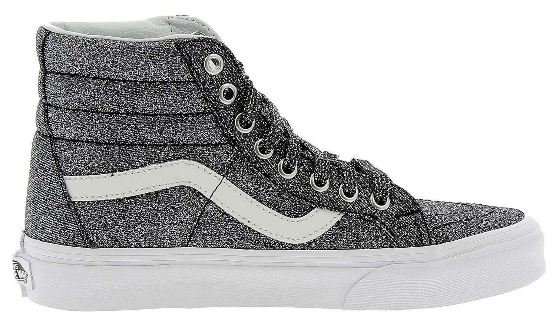 vans vans sk8-hi reissue scarpe sportive donna grigie glitterate vn0a2xsbu3t