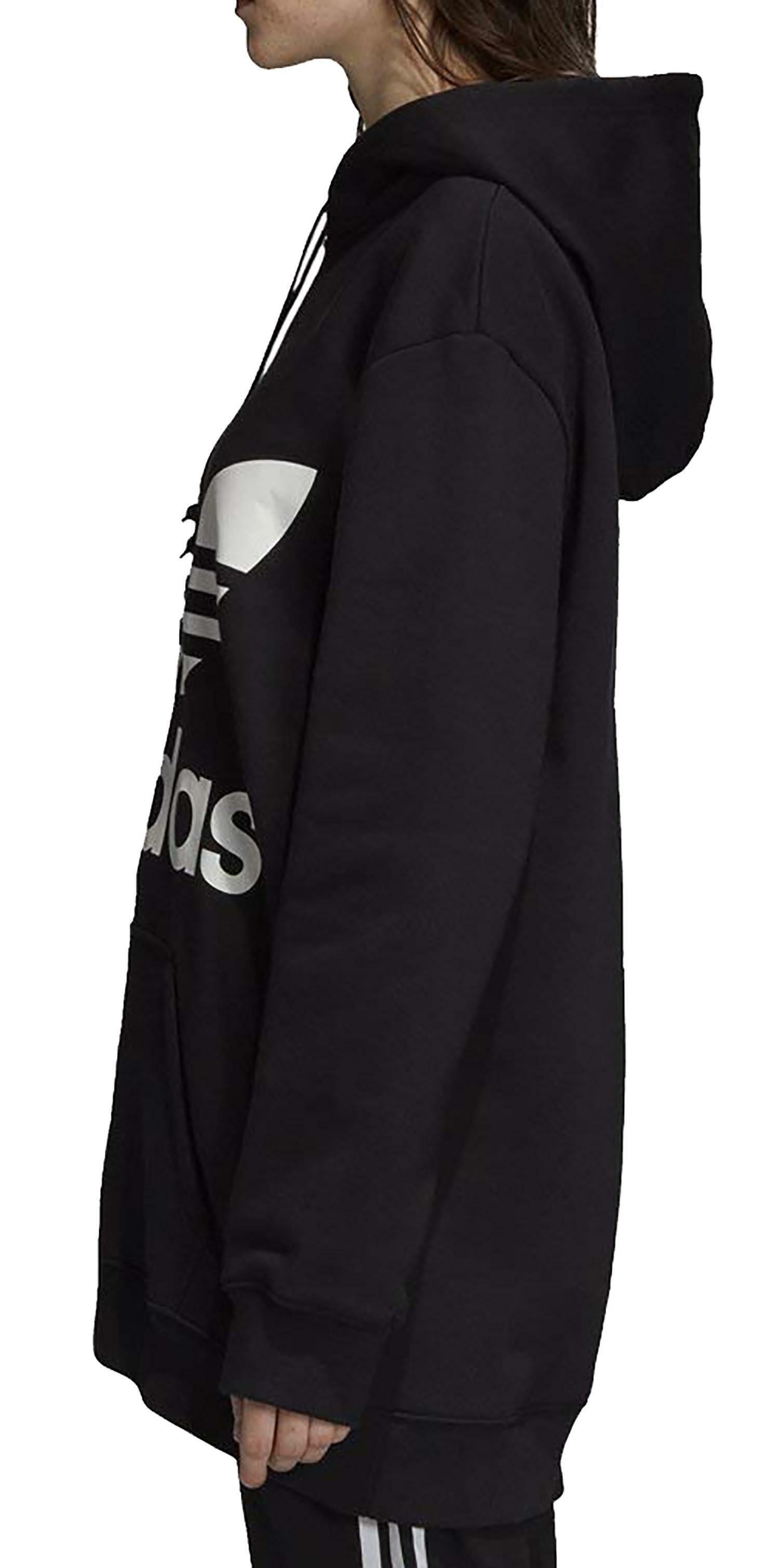 adidas originals adidas hoodie felpa donna cappuccio nera dj2094