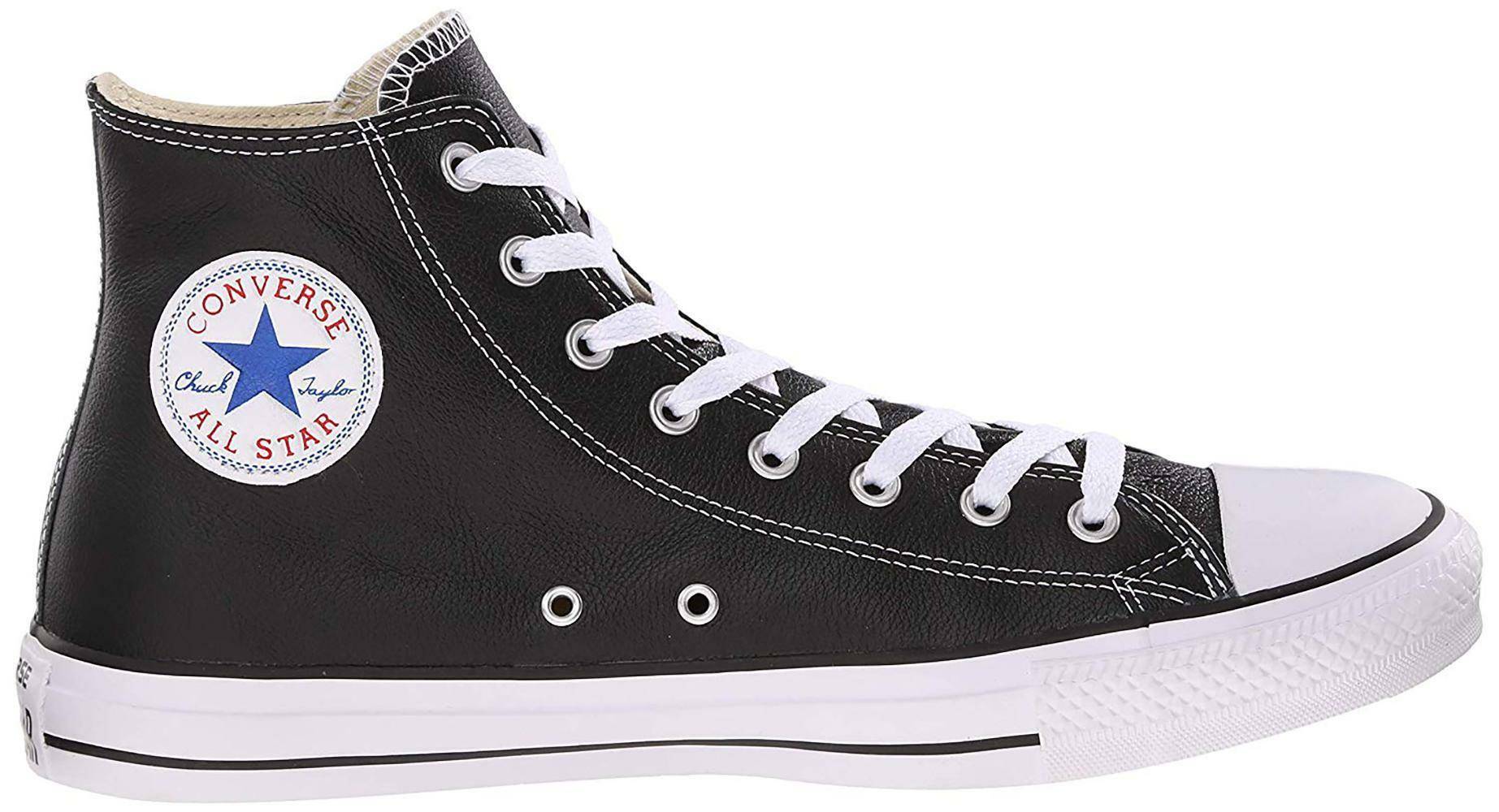 converse converse all star scarpa sneaker alta hi nera black pelle ltr 132170c