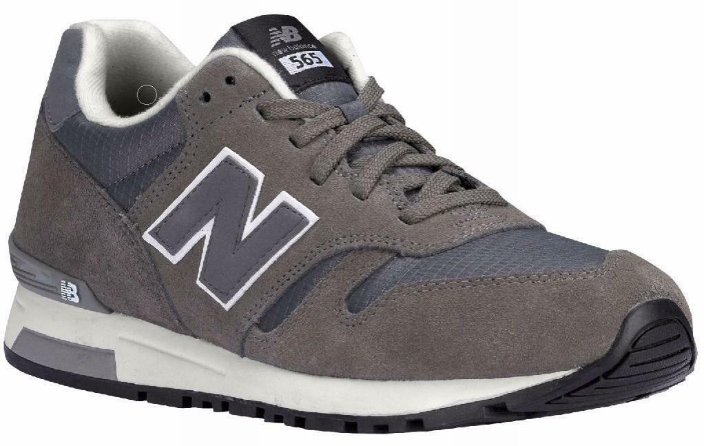 new balance scarpe sportive uomo grigie pelle tela ml565aad
