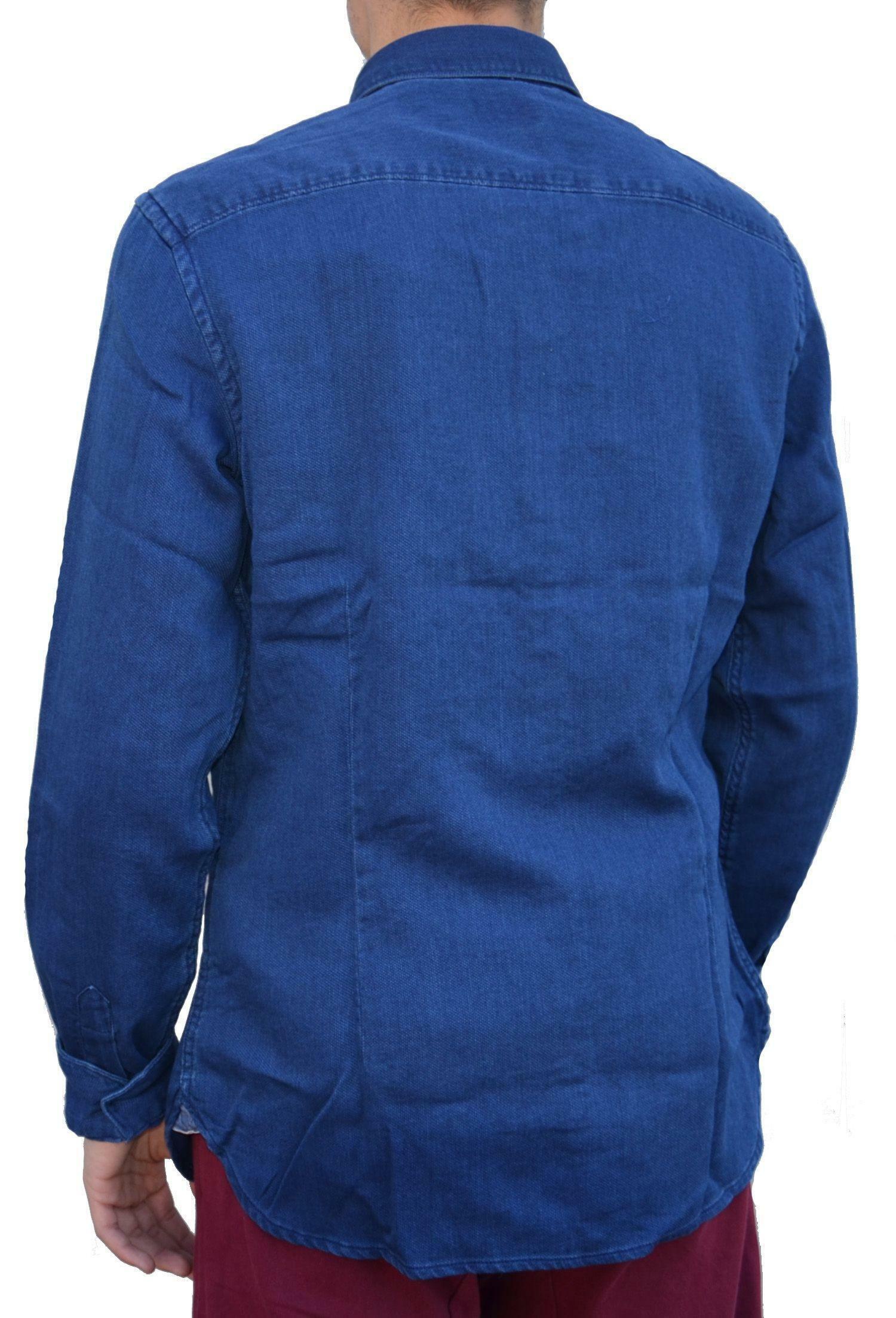 timberland timberland fort hill textured camicia uomo blu