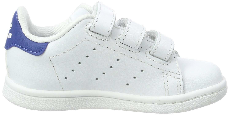 adidas stan smith cf scarpe sportive bambino strappi bianche bz0522