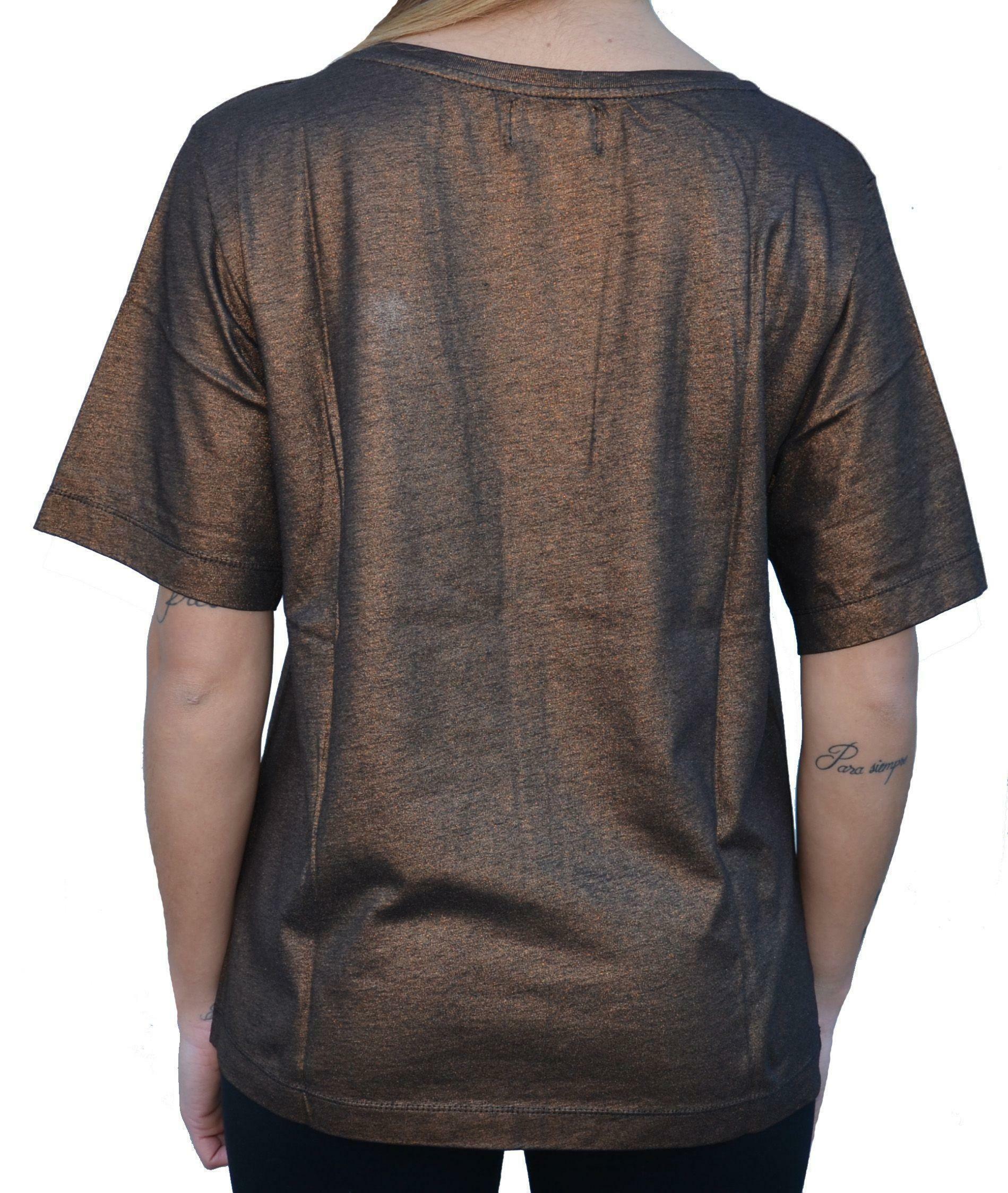 converse converse t-shirt donna bronzo