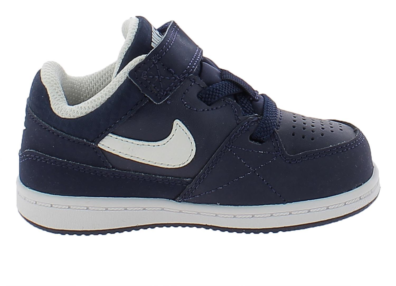 nike nike priority low td scarpe sportive bambino blu pelle strappi 653674