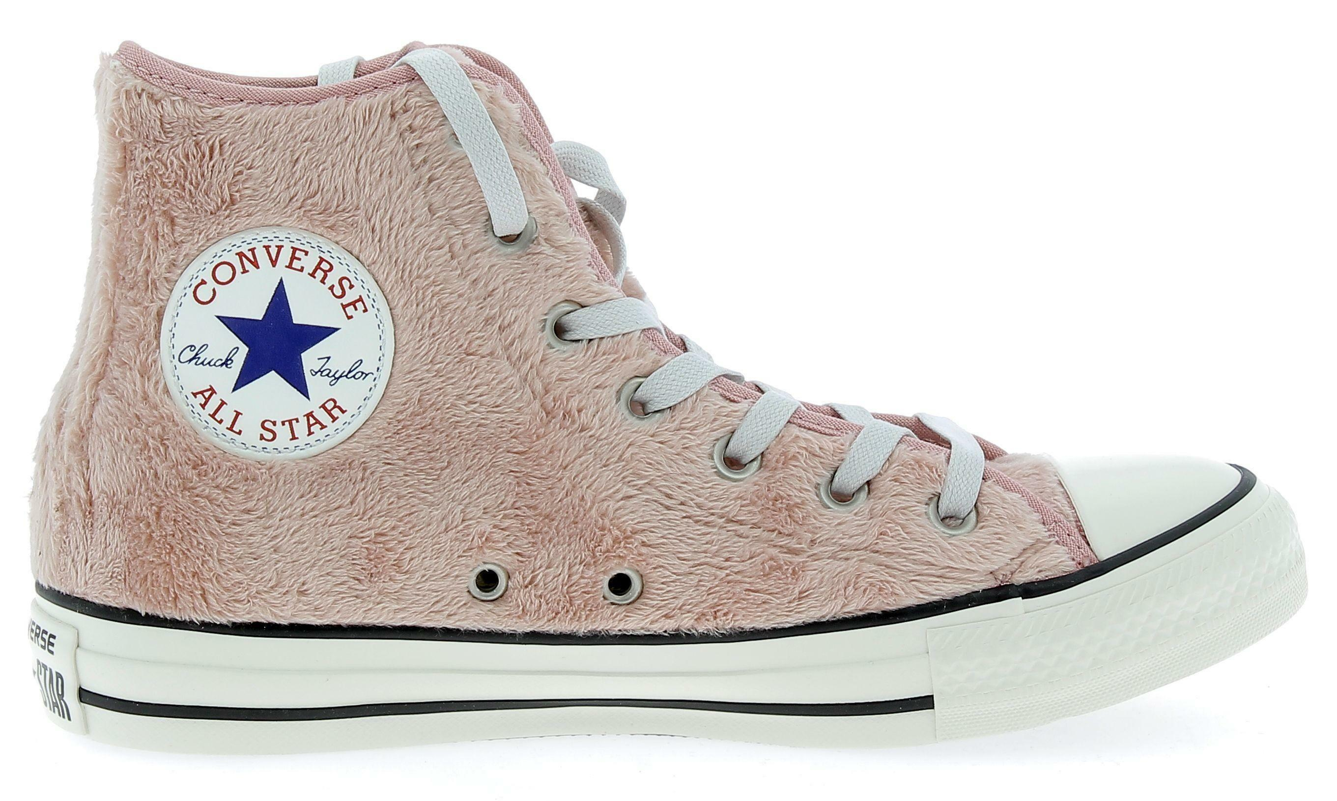 converse converse ctas hi scarpe sportive con pelliccia sintetica donna rosa