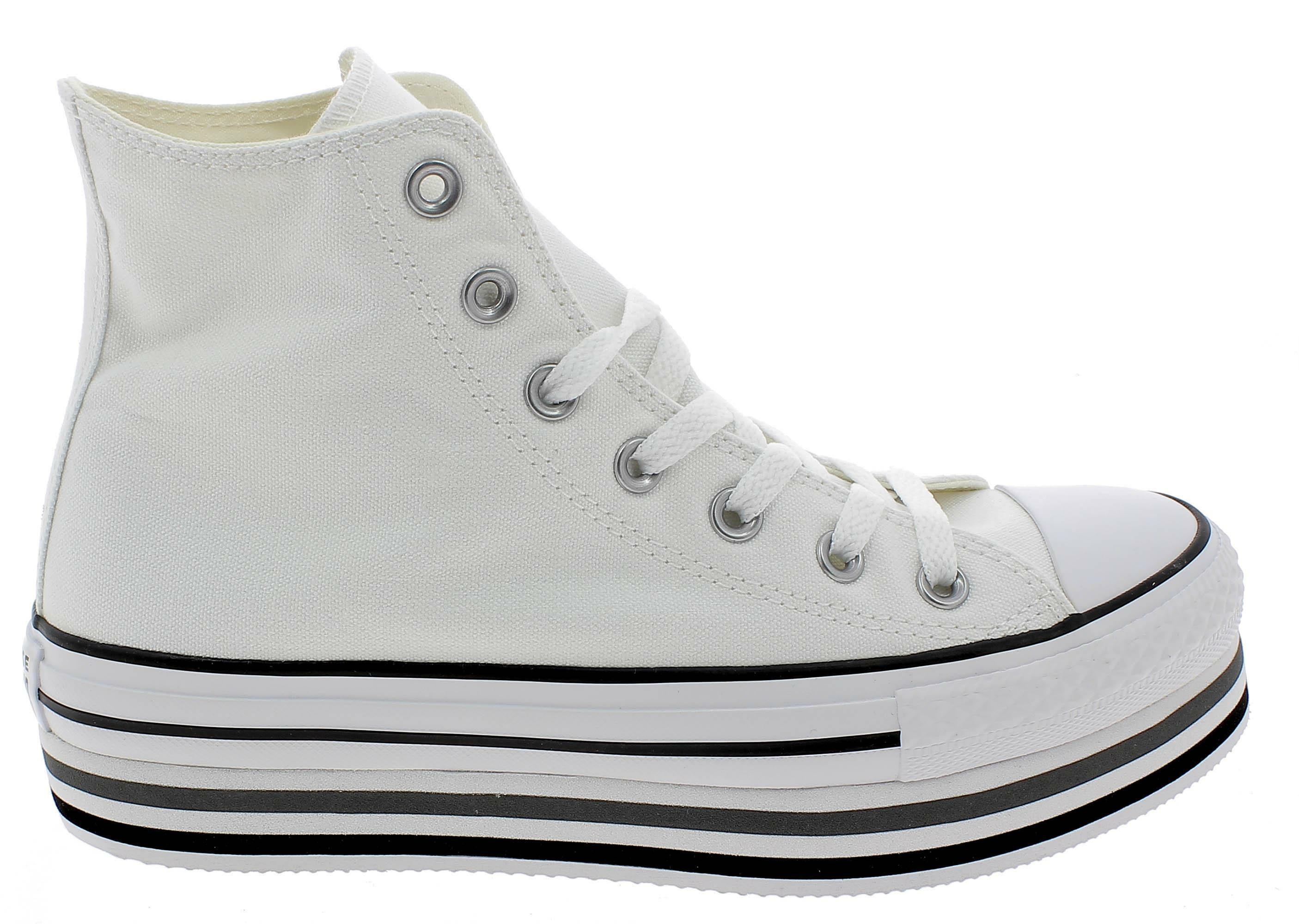 Converse ctas platform layer hi scarpe sportive donna bianche 564485c