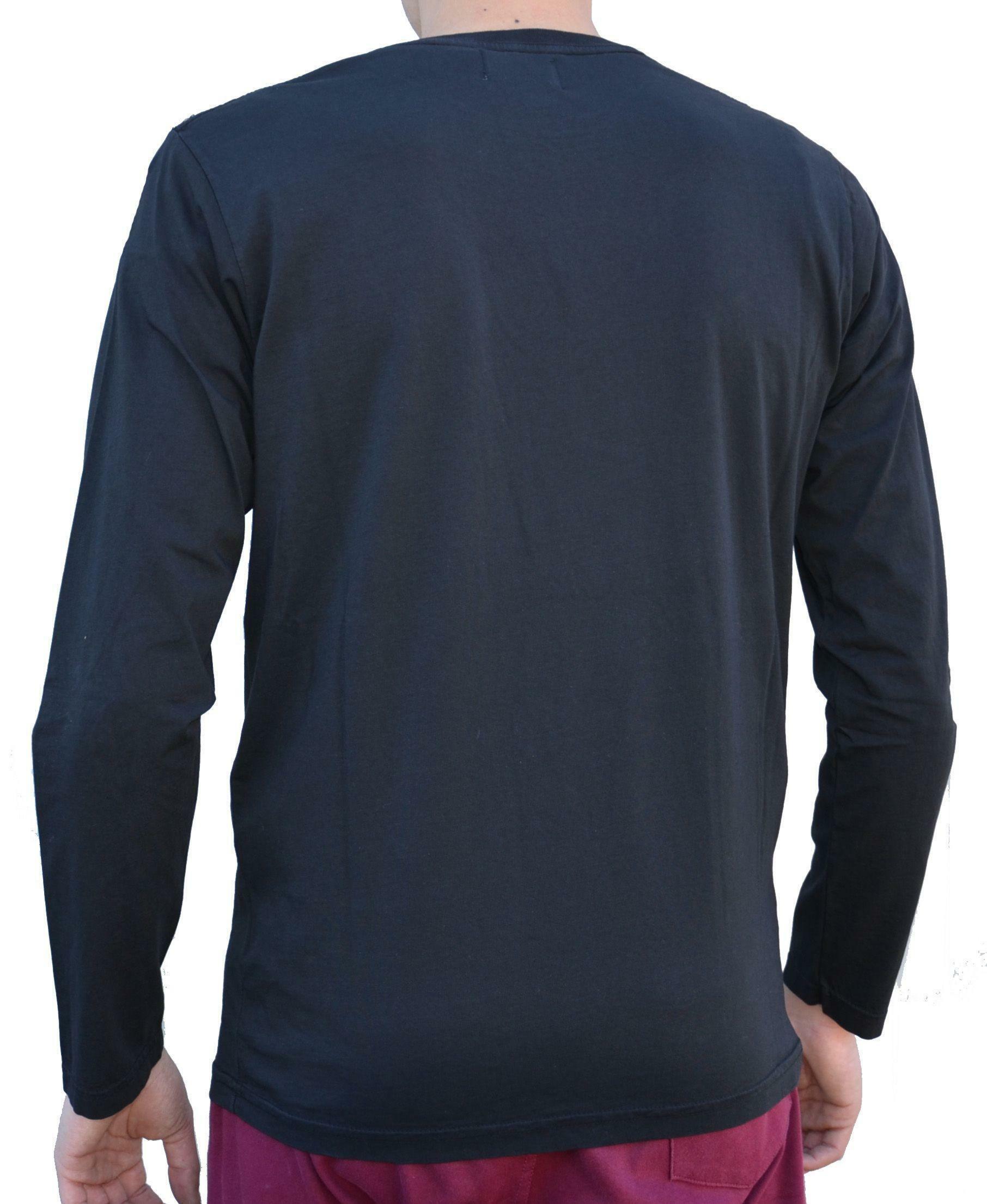 converse maglia maniche lunghe uomo nera