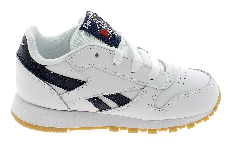 reebok classic leather scarpe sportive bambino bianche dv4569